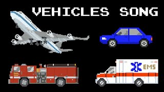 Vehicles Song with The Kids' Picture Show | Cars, Trains, Planes and More