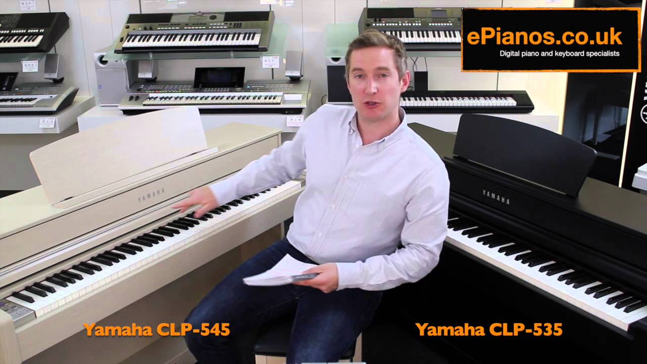 yamaha clp 535 v clp 545 clavinova comparison what piano. Black Bedroom Furniture Sets. Home Design Ideas