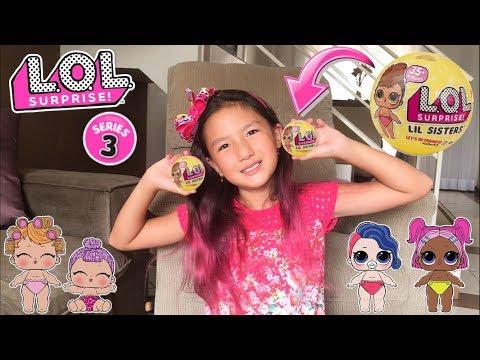 Abrindo Duas Bonecas Lol Confetti Lil Sister SÉrie 3
