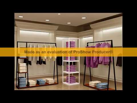 Giá kệ treo quần áo shop thời trang đẹp- kệ sắt V lỗ đa năng