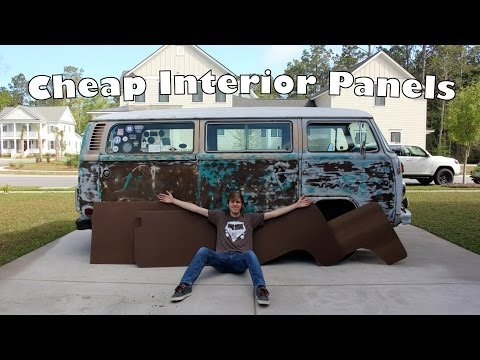 Easy, Cheap, DIY Interior Panels - Making Interior Panels for the VW Bus