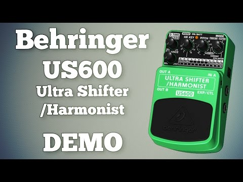 Behringer US600 Ultra Shifter / Harmonist Demo (Including Latch Settings)