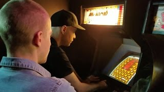 Breaking the Arkanoid high score at Barcade