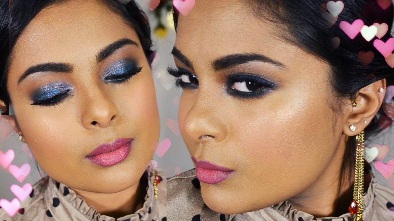 Glamorous Prom Makeup - Glitter Glam Smokey Eyes Full Face Party Makeup Tutorial - Chit Chat ...
