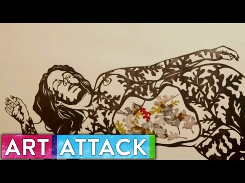 FALL Timelapse Printmaking by Sonia Romero | Art Attack