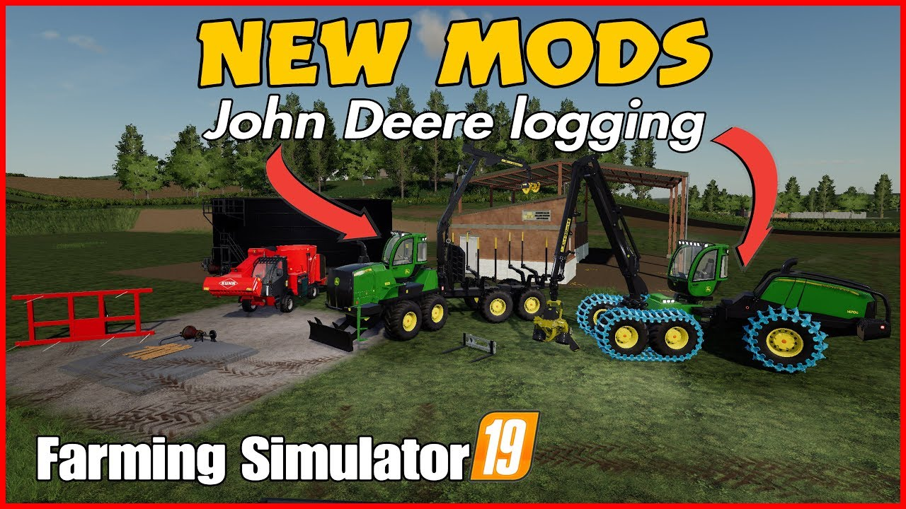 Fs19 new mods JD 1470G & JD 1906G John Deere logging is here