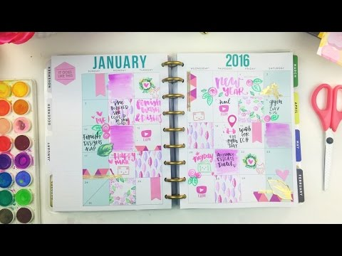 Plan with me! The Happy Planner By Me & My Big Ideas   TheSassyClub