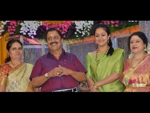Jyothika Mehndi Ceremony : Sivakumar jyothika attend jayachitras son amresh wedding reception