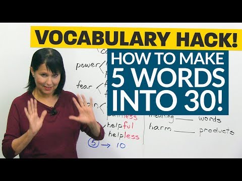 Vocabulary Hack: How 5 Words Become 30!