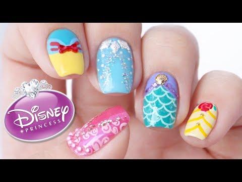Disney Princess Nail Art Designs