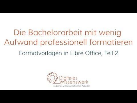 Automatische Seitenzahlen, Kopf- und Fußzeilen und Inhaltsverzeichnisse in LibreOffice - DW 002из YouTube · Длительность: 14 мин55 с