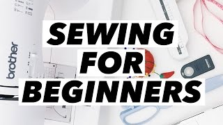 Sewing for Beginners! (Machine Review, Shopping Tips, Basic Supplies, and How to Start!)   WITHWENDY
