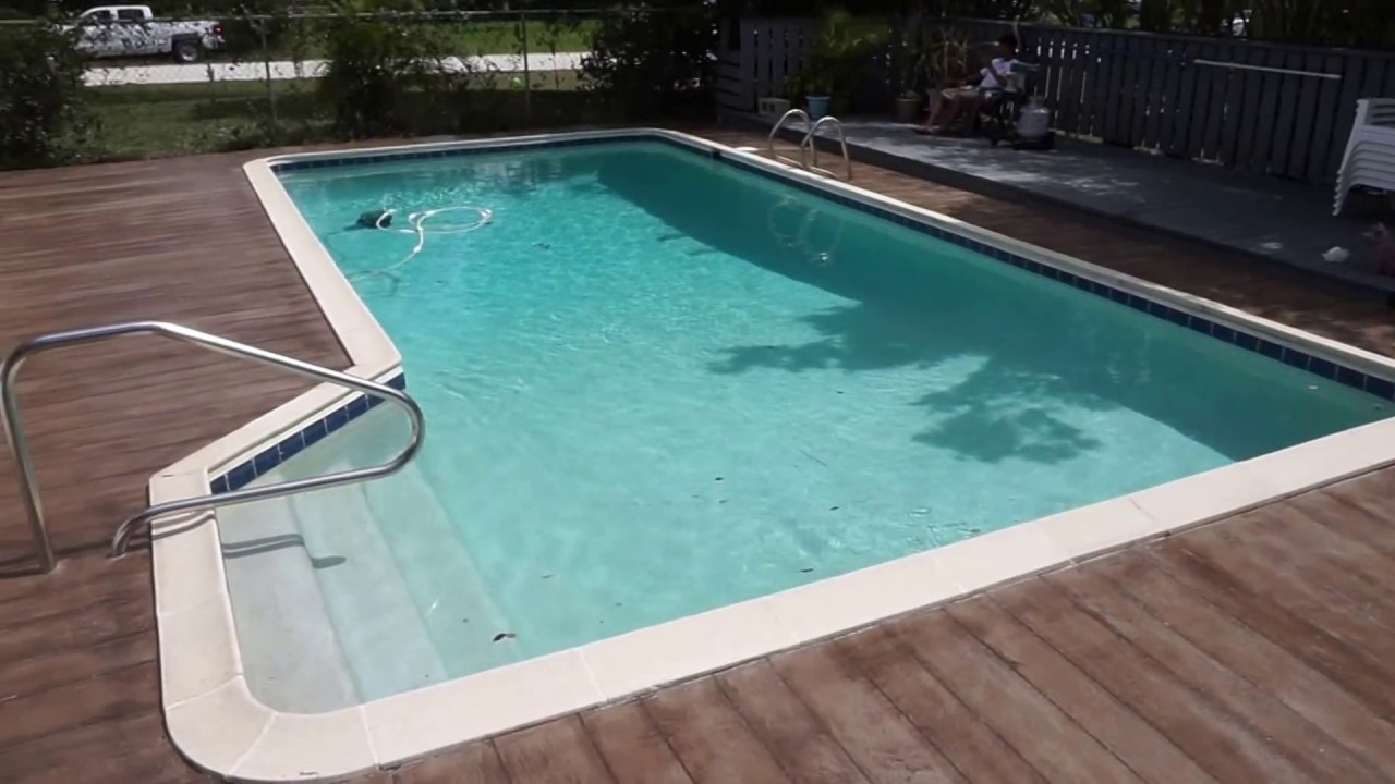 Pool Deck Concrete Wood Plank Clip3 Sunny Florida Youtube