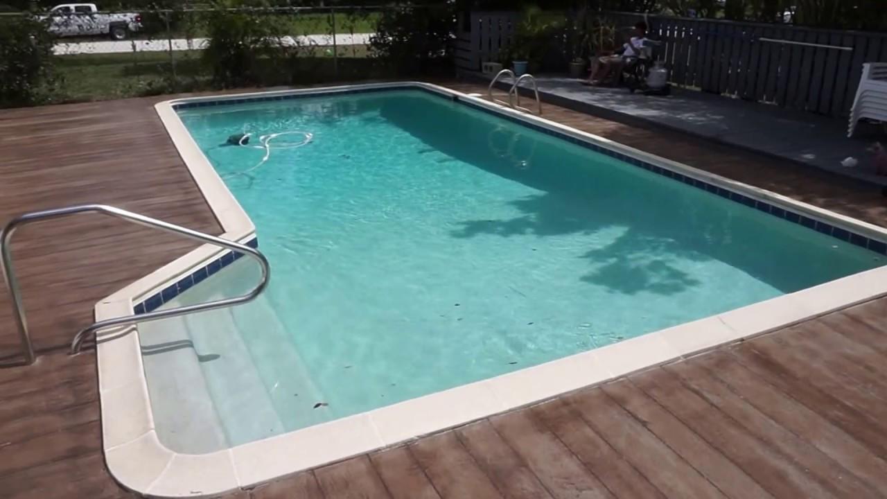 Pool Deck Concrete Wood Plank Clip3 Sunny Florida