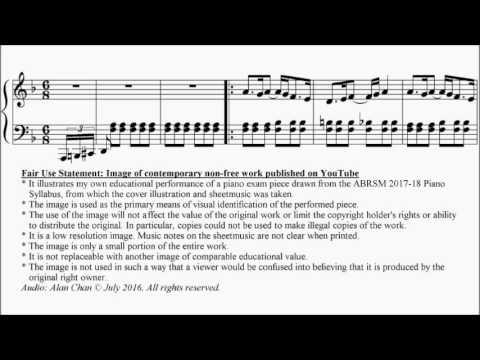 ABRSM Piano 2017-2018 Grade 6 C:3 C3 Tanaka Masquerade Sheet Music