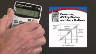 Construction Master Pro DT Commons, 45/non-45 degree Hips, Valleys and Jack Rafters How To