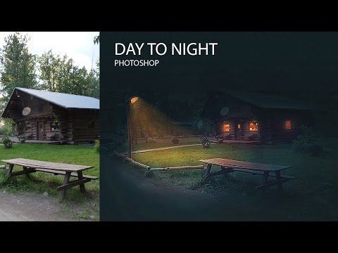 DAY TO NIGHT|PHOTOSHOP| Tutorial