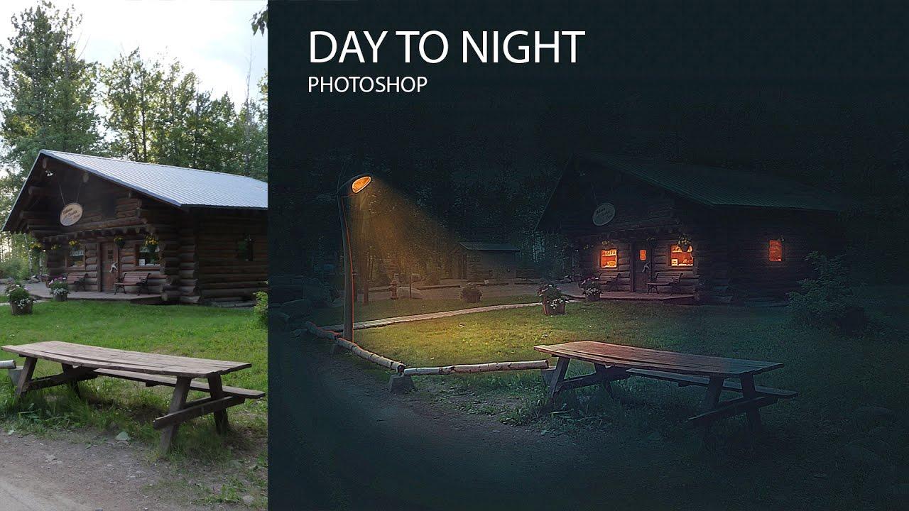 Как сделать ночь на фотографии