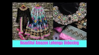 UNBOXING BEST LEHENGA FROM  AMAZON - 0nline Shopping Unboxing & Review-Is It Worth?