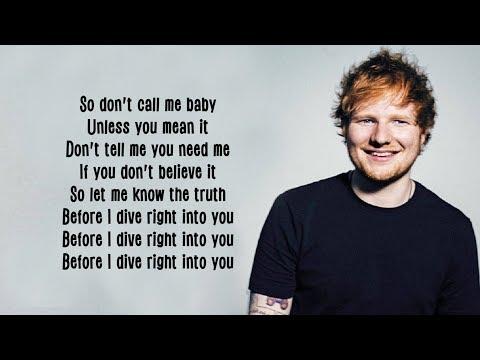 Ed Sheeran - Dive [Lyrics]