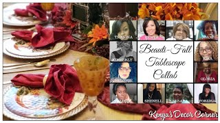 Beautiful Fall Tablescape Collab | Decorate With Me