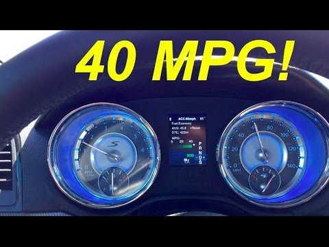 Chrysler 300 Fuel Economy Test - Better Than You Might Think!