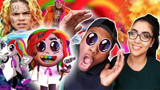 6IX9INE - STOOPID ft. Bobby Shmurda (Official Music Video) | REACTION 🌈| CHIEF KEEF & EBRO DISS 😳