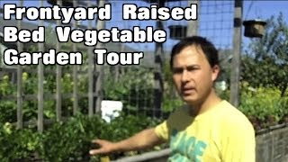 Front Yard Winter Raised Bed Vegetable Garden Tour