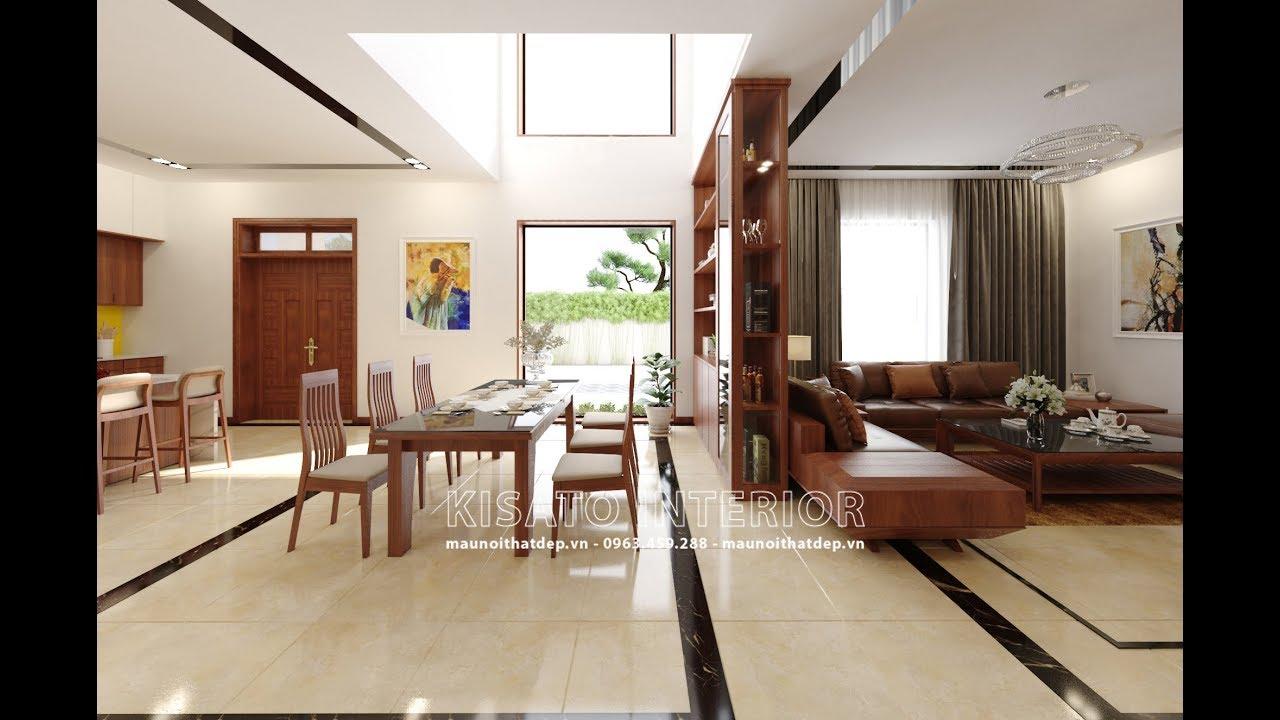 Mẫu Nội Thất Phòng Khách – Thờ – Bếp Ăn Đẹp Cho Biệt Thự Tại Hà Nội