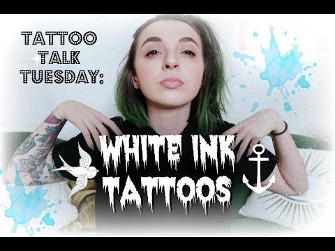 Tattoo Talk Tuesday White Ink Tattoos And My Show And Tell