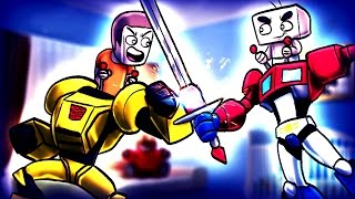 Minecraft | WHO'S YOUR DADDY? Baby vs Daddy TRANSFORMERS FIGHT TO DEATH! (Optimus Prime Daddy)