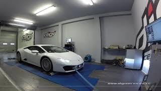 Lamborghini Huracan LP580-2 Reprogrammation Moteur @ 605cv Digiservices Paris 77 Dyno