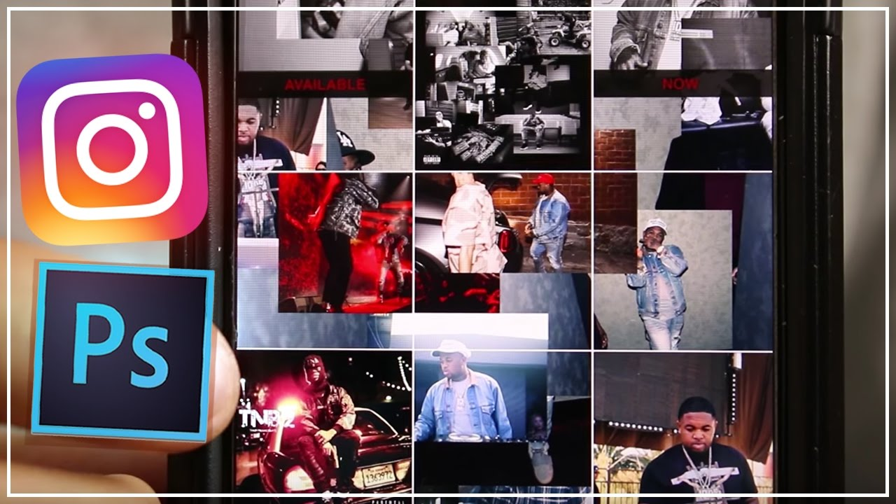 Collage Fotos How To Create A Collage Theme Instagram Feed Using Photoshop Dj Mustard Asap Rocky Tutorial