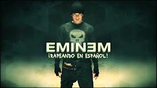 Eminem rapeando en Español