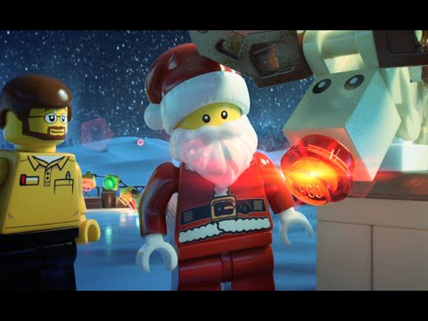 and Rudolph Helping Hands - LEGO Minifigure Family Holiday Card