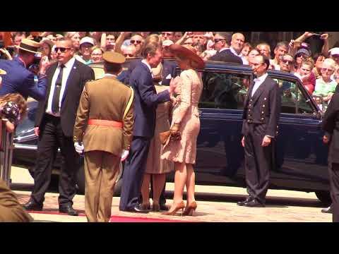 Koningspaar neemt afscheid van Luxemburg