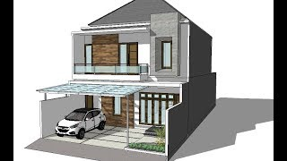Modern House Two Storey With Free Floor Plan
