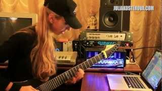 Hi Power riffs + tune preview - Julia Kosterova tracking guitars for new EP