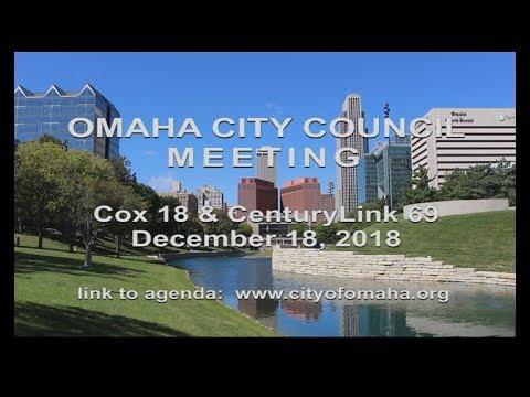 Omaha Nebraska City Council meeting December 18, 2018