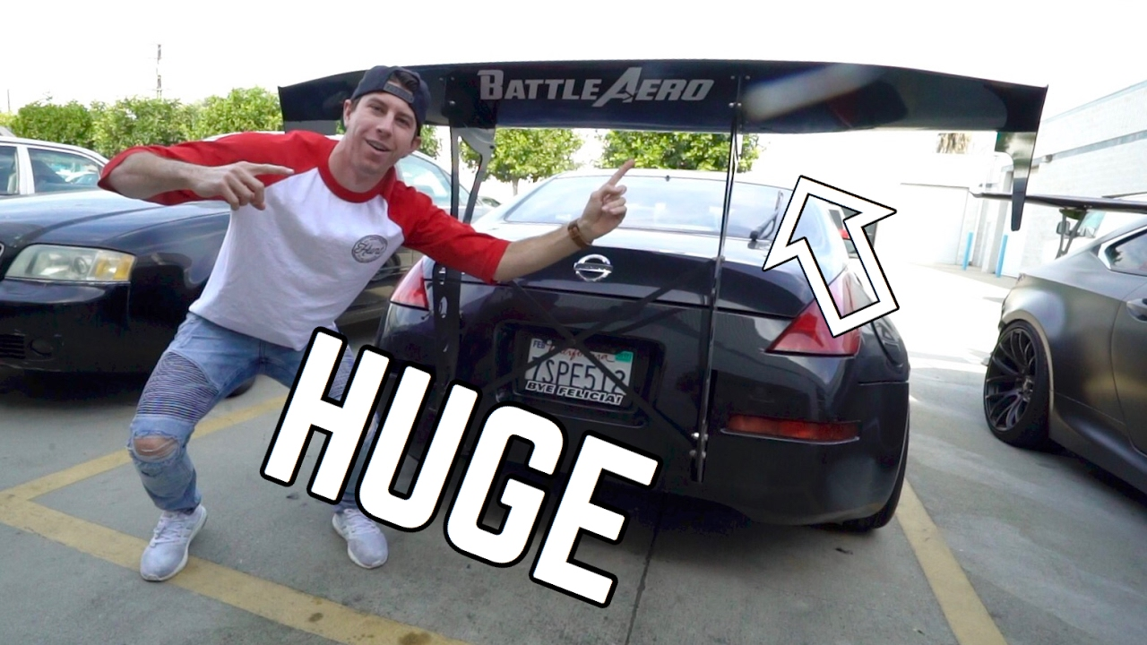 Picking Up My New Spoiler! BIG WING! - YouTube