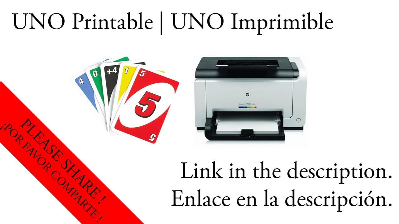 graphic regarding Printable Uno Cards called Printable UNO - UNO IMPRIMIBLE