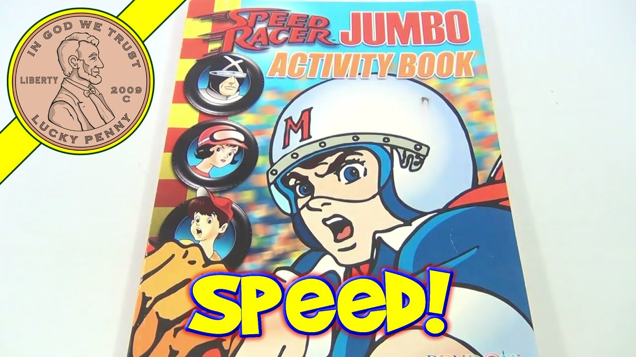 Speed Racer Jumbo Activity Coloring Book Bendon Publishing