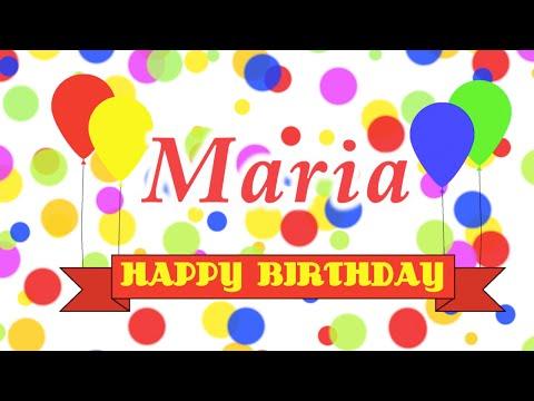 Happy Birthday Maria Song