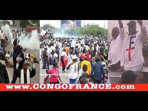 Retour de Tshisekedi et Kamerhe : Gaz lacrymogène BOOM !! à Kinshasa