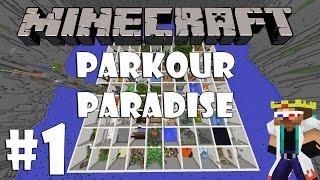 MINECRAFT PARKOUR PARADISE #1| 100 SOBA ZA PARKOUR?!