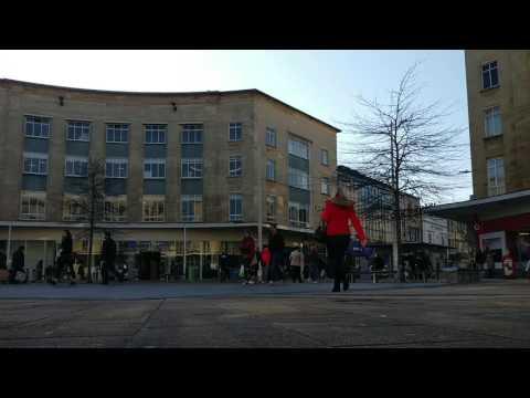 Pedestrians in Bristol city centre