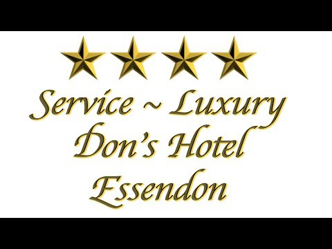 Melbourne Airport Hotels Accommodation Presents Don's Hotel EXAMPLE
