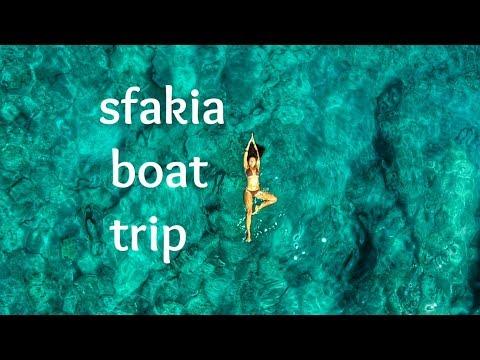 Crete Chania Sfakia boat trip with dji mavic pro & gopro
