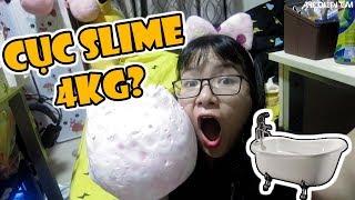 [THỬ THÁCH] Lần Đầu Làm Slime Khổng Lồ Trong Bồn Tắm Tốn Hơn 1 Triệu Đồng