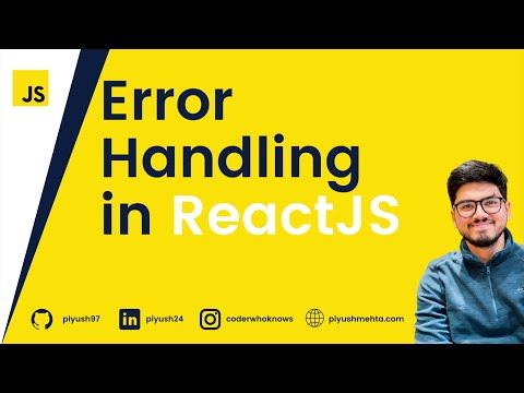 Simplest Error Handling in ReactJS   Part 9 of the series